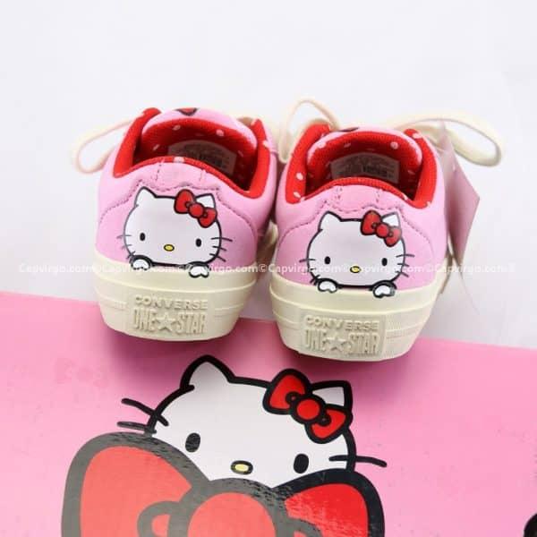 Giày Converse Kitty màu hồng cổ thấp