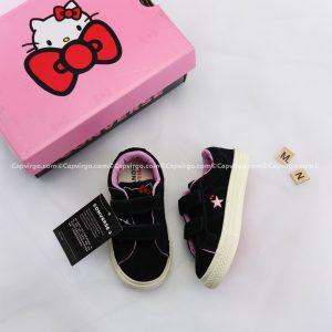 Giày Converse Kitty dán dính màu đen cổ thấp
