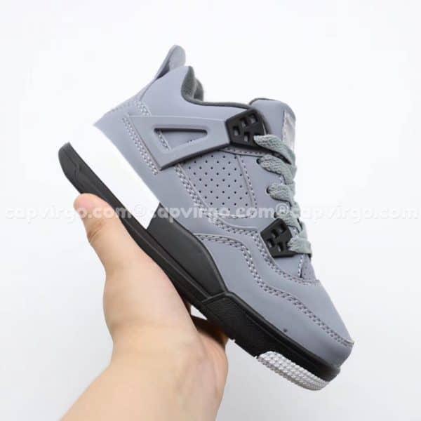 Giày trẻ em Air Jordan 4 màu ghi đen