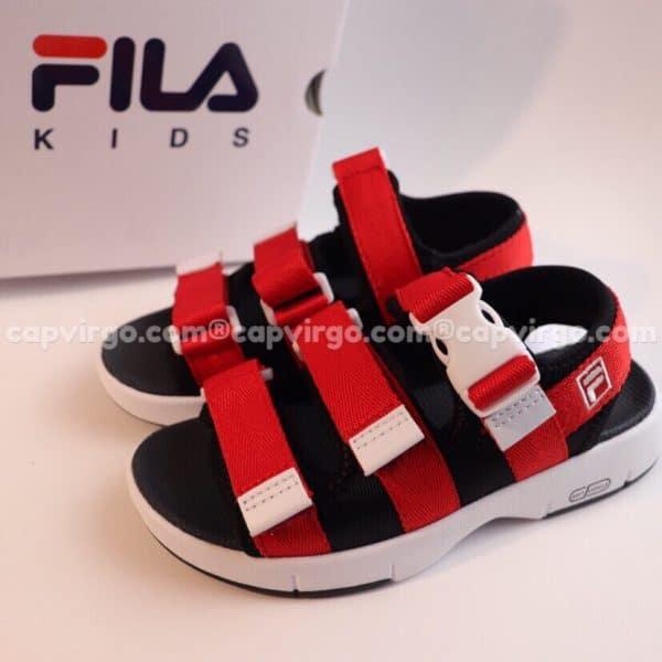 Sandal FILA trẻ em 3 quai màu đỏ