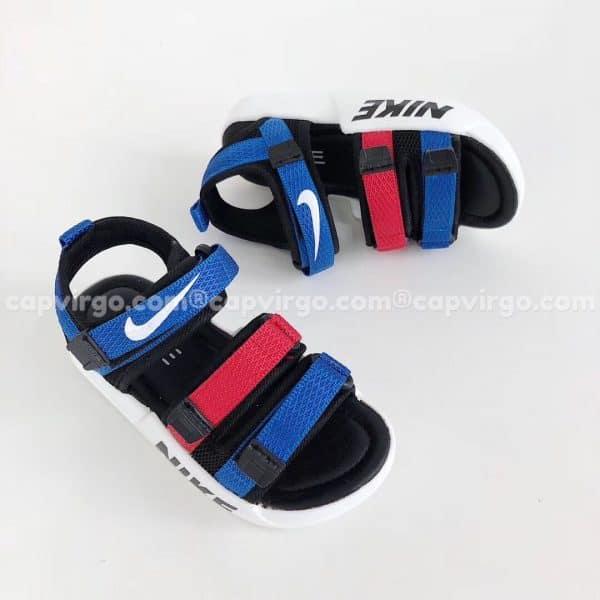 Sandal Nike trẻ em 3 dây màu xanh đỏ