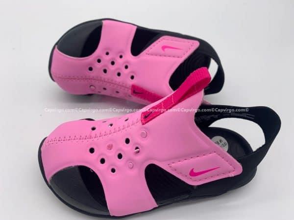 Sandal Nike Sunray trẻ em màu hồng đế đen