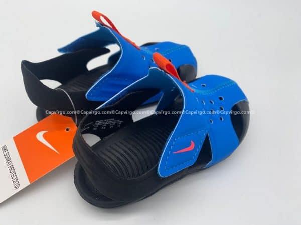 Sandal Nike Sunray trẻ em màu xanh dương đế đen