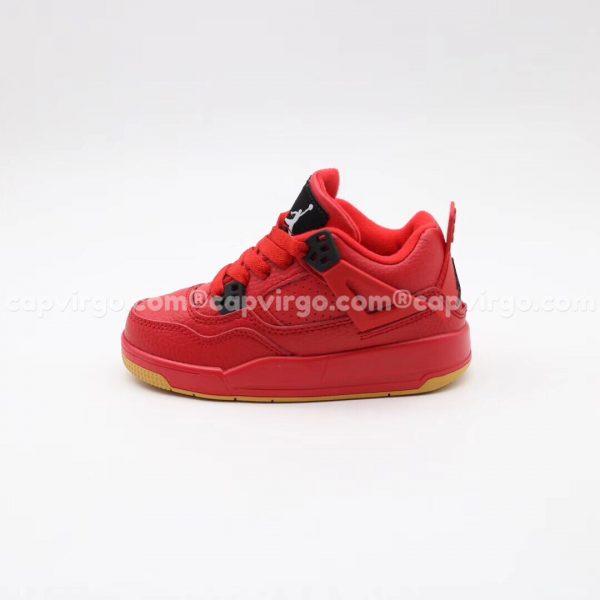 Giày trẻ em Air Jordan 4 màu đỏ