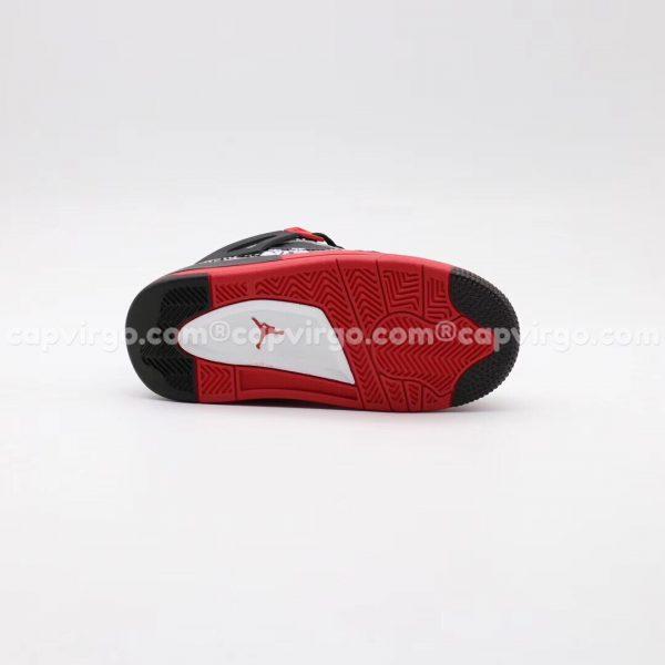 Giày trẻ em Air Jordan 4 màu đen đỏ trắng
