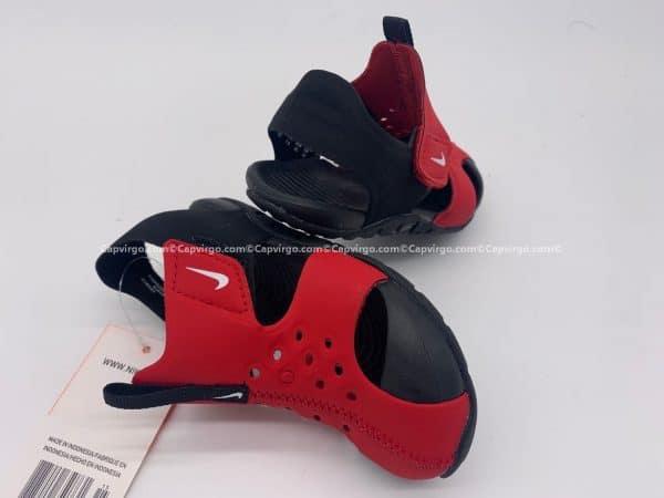 Sandal Nike Sunray trẻ em màu đỏ đế đen
