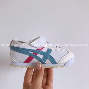 Giày trẻ em Onitsuka Tiger màu trắng sọc xanh lam