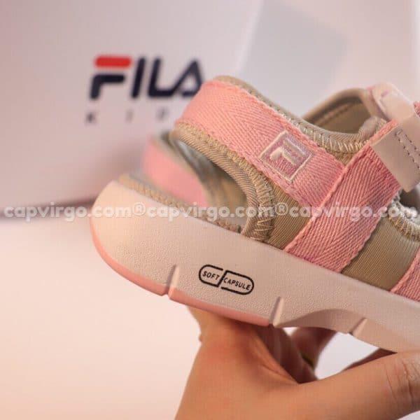 Sandal FILA trẻ em 3 quai màu hồng