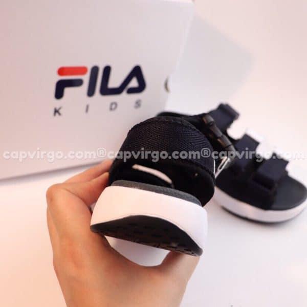 Sandal FILA trẻ em 3 quai màu đen