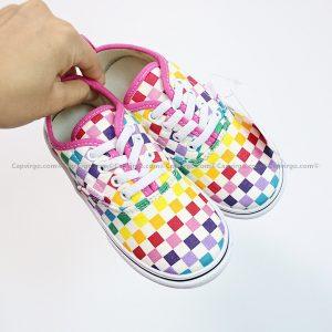 Giày Vans buộc dây 7 màu họa tiết caro