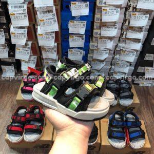 Sandal NB trẻ em 2 quai dán dính màu xanh lá