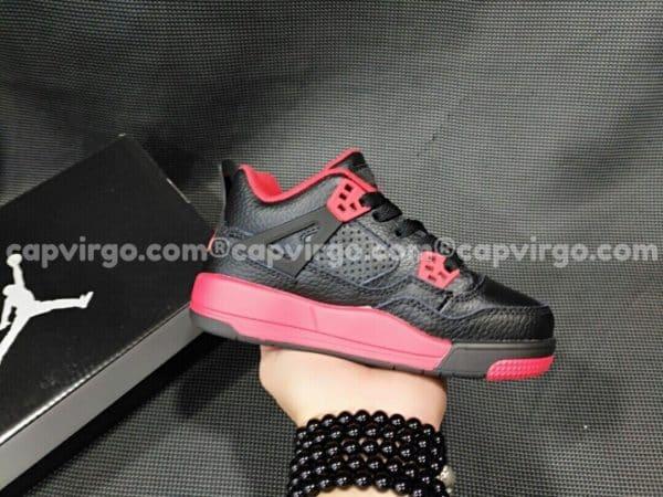 Giày trẻ em Air Jordan 4 màu đen đỏ