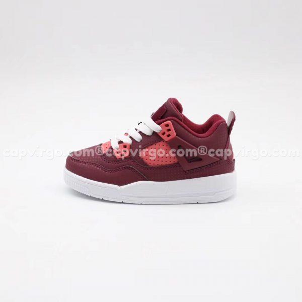 Giày trẻ em Air Jordan 4 màu đỏ mận