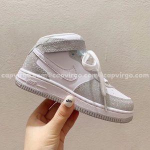 Giày trẻ em nike Air Force 1 kim tuyến cao cổ