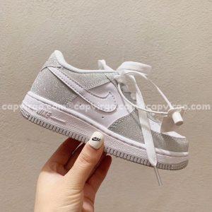 Giày trẻ em nike Air Force 1 kim tuyến