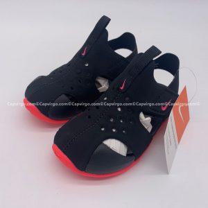Sandal Nike Sunray trẻ em màu đen đế đỏ