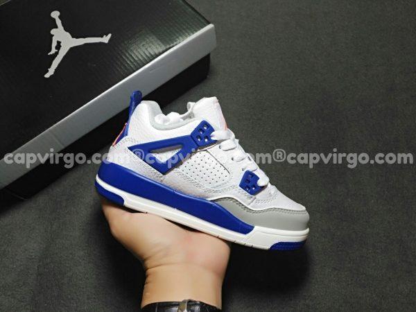 Giày trẻ em Air Jordan 4 màu trắng xanh