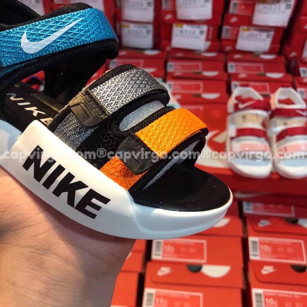 Sandal Nike trẻ em 3 dây màu xanh vàng
