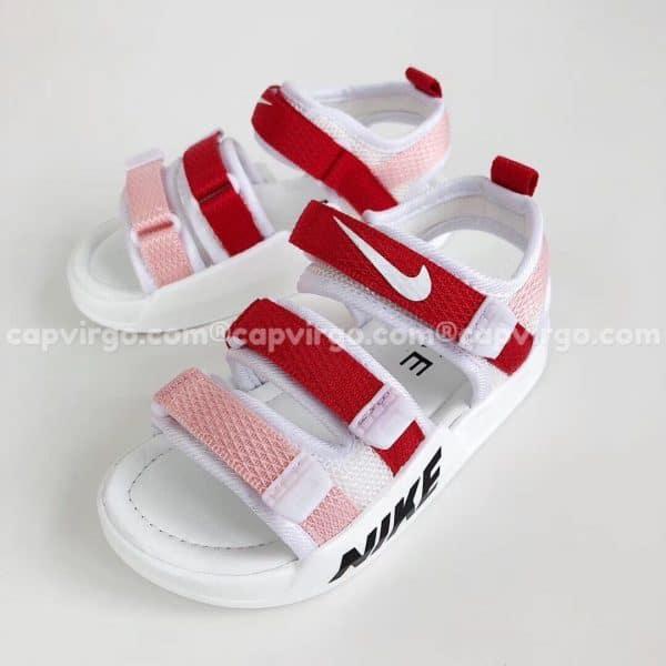 Sandal Nike trẻ em 3 dây màu đỏ hồng