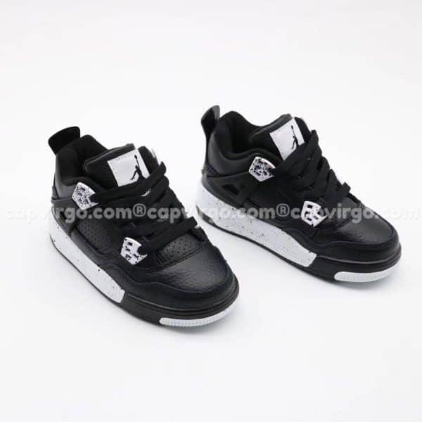 Giày trẻ em Air Jordan 4 màu đen trắng