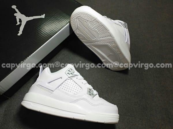 Giày trẻ em Air Jordan 4 màu trắng