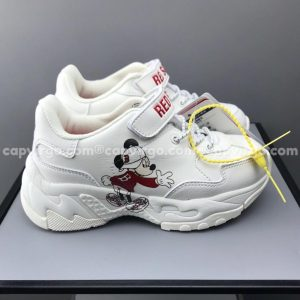 Giày trẻ em MLB Mickey Mouse màu trắng