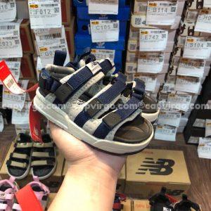 Sandal NB trẻ em 3 quai dán dính màu xanh than