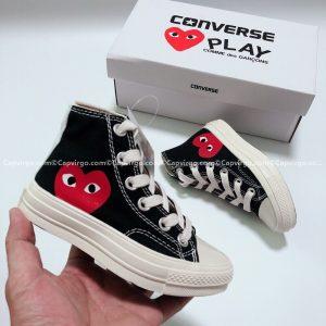 Giày Converse PLAY tim màu đen cao cổ