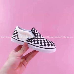 Giày Vans lười Harry Potter kẻ caro màu trắng đen