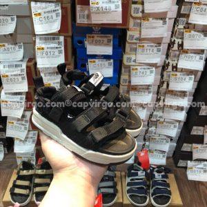 Sandal NB trẻ em 3 quai dán dính màu đen