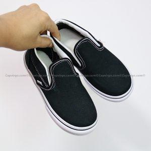 Giày Vans lười màu đen kiểu cổ điển