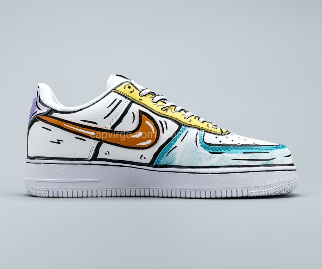 Giày Nike Air Force1 màu trắng họa tiết paint