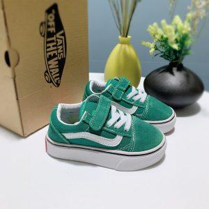 Giày Vans trẻ em màu xanh lá