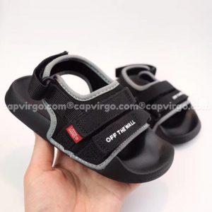 Sandal Vans trẻ em 2 dây màu đen