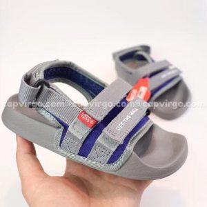 Sandal Vans trẻ em 2 dây màu xám
