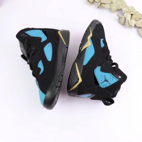 Giày trẻ em Air Jordan 7 Retro màu đen xanh