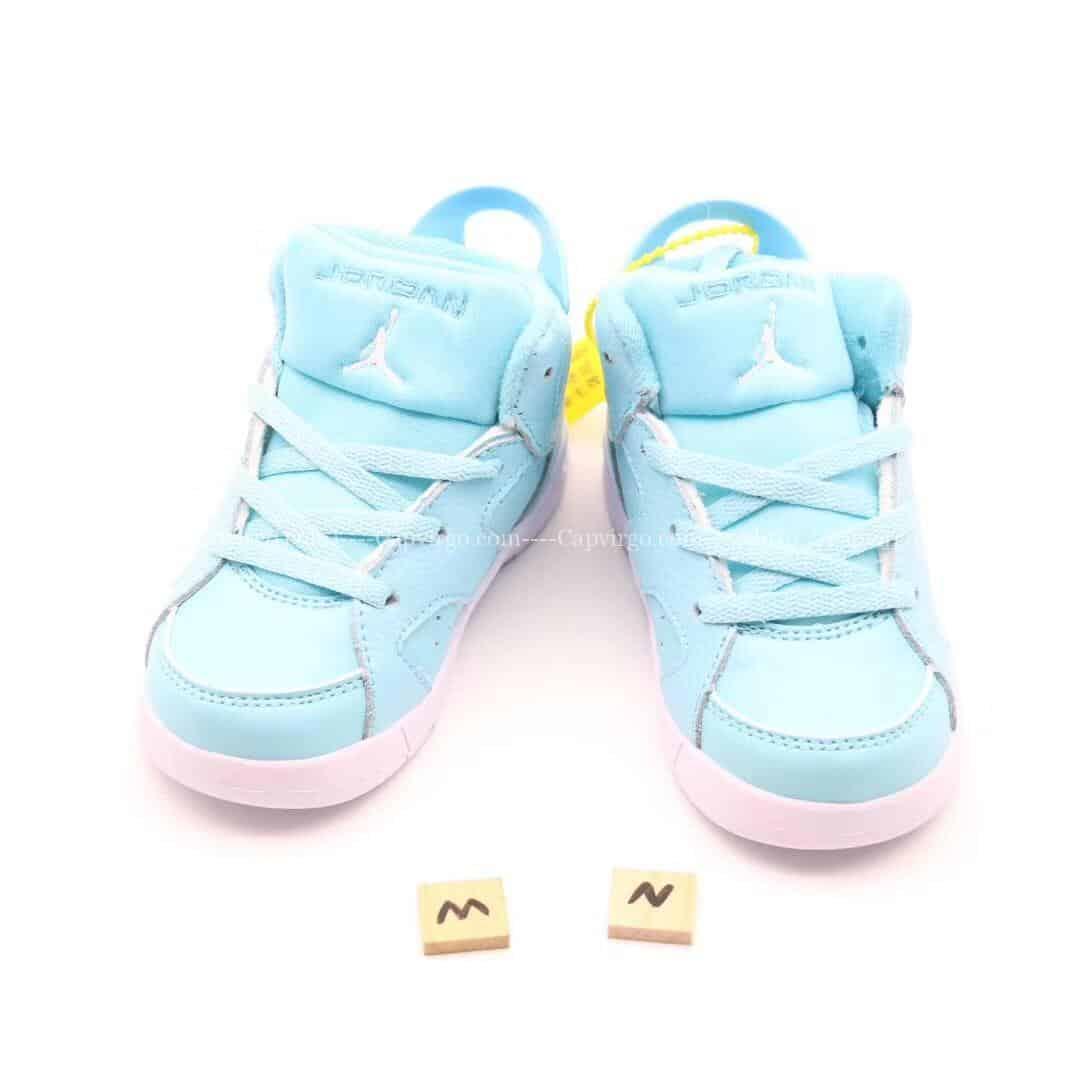 Giày trẻ em Air Jordan 6 Retro màu xanh