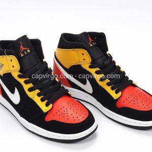 Giày Nike Jordan 1 siêu cấp 3 màu vàng đỏ đen