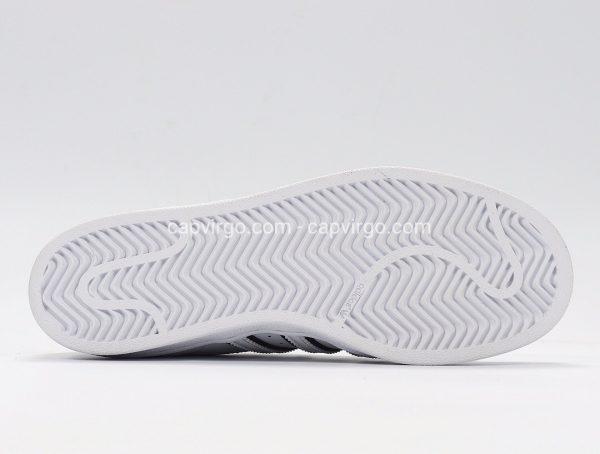 Giày Adidas Super Star trắng gót vàng chanh