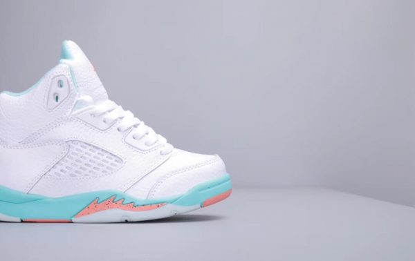 Giày trẻ em Air Jordan 5 Retro màu trắng xanh