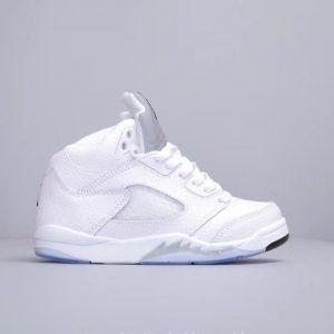 Giày trẻ em Air Jordan 5 Retro màu trắng bạc