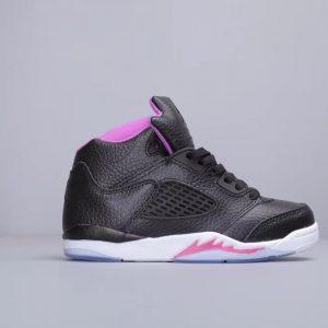 Giày trẻ em Air Jordan 5 Retro màu đen tím