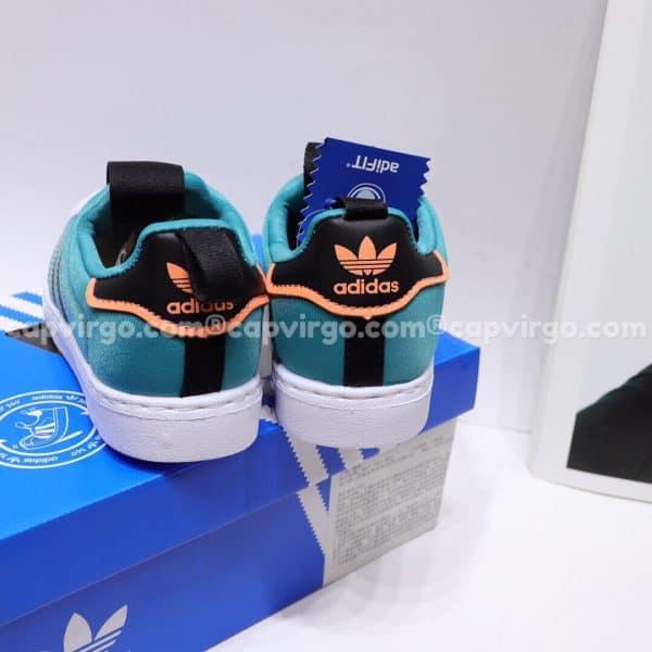 Giày Superstar trẻ em siêu nhẹ màu xanh đen