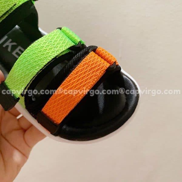 Sandal Nike trẻ em 3 dây màu xanh cam