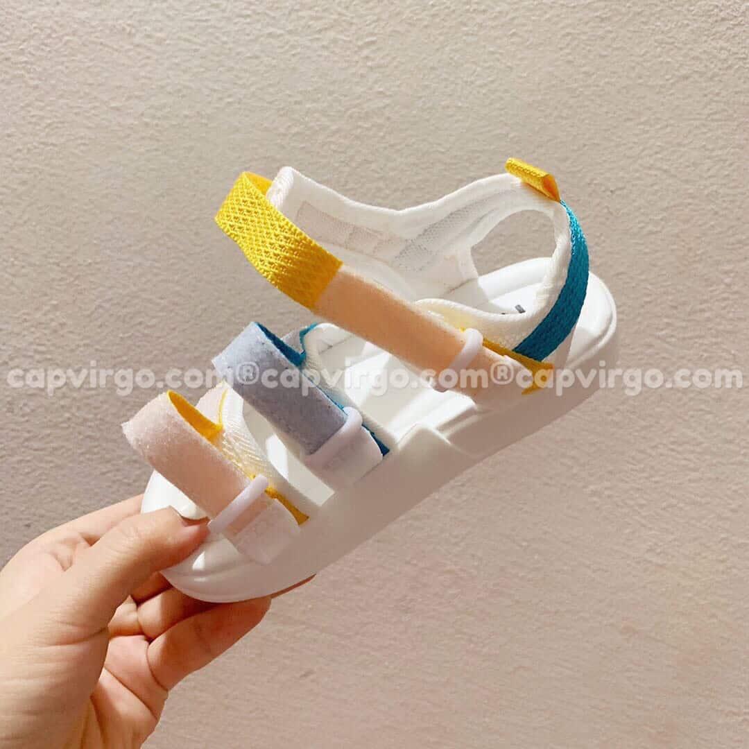 Sandal Nike trẻ em 3 dây màu vàng xanh