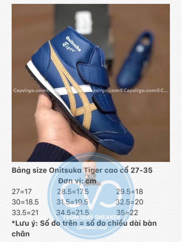 Bảng size giày trẻ em Onitsuka Tiger 22-35