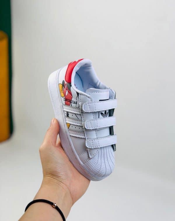Giày Superstar DISNEY chuột Mickey trẻ em màu trắng