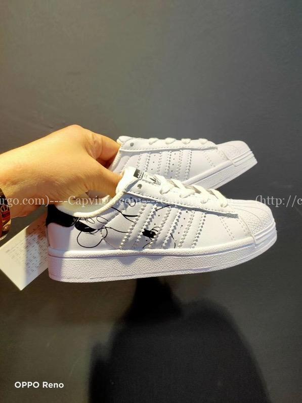 Giày Superstar DISNEY chuột Mickey trẻ em màu trắng đen