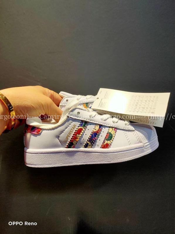 Giày Superstar DISNEY chuột Mickey trẻ em sọc 3 màu