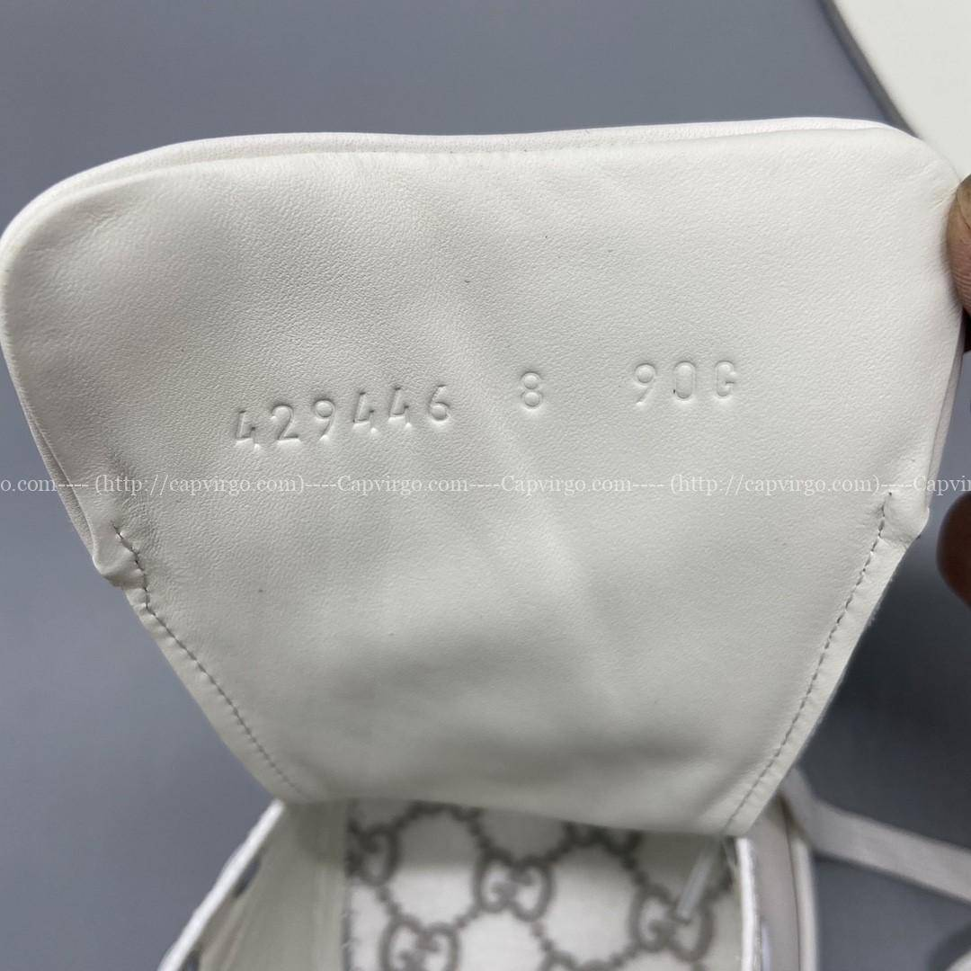 Giày gucci ACE siêu cấp họa tiết mickey màu nâu